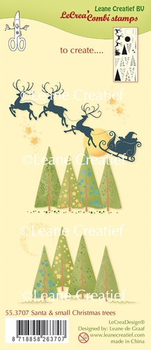 Leane Creatief - Santa & small christmas trees