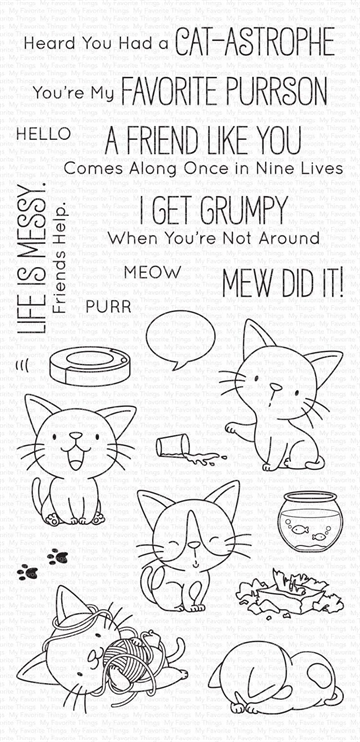 Happymade - My Favorite Things clear stamp - Cat-astrophe (BB-104)