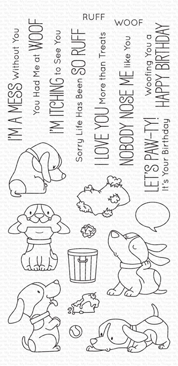 Happymade - My Favorite Things clear stamp - Woof Pack (BB-105)