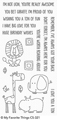 Happymade - My Favorite Things clear stamp set - Safari Friends (CS-321)