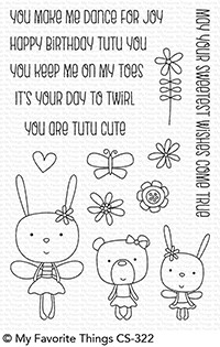 Happymade - My Favorite Things clear stamp set - Tutu Trio (CS-322)