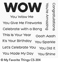 Happymade - My Favorite Things clear stamp set - You Wow Me (CS-304)