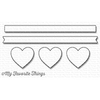 Happymade - My Favorite Things die set - Hearts in a Row - Horizontal (MFT-1247)