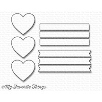 Happymade - My Favorite Things die set - Hearts in a Row - Vertical (MFT-1246)