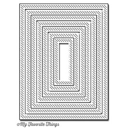Happymade - My Favorite Things die - In & Out Diagonal Stitched Rectangle Stax (MFT-606)