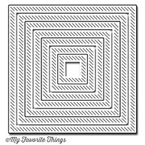 Happymade - My Favorite Things die - In & Out Diagonal Stitched Square Stax (MFT-607)