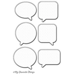 Happymade - My Favorite Things die - Birthday Speech Bubbles (MFT-934)