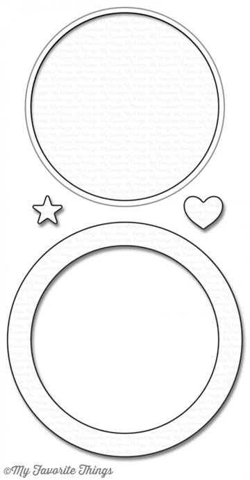 My Favorite Things Circle Shaker Window & Frame