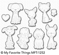 Happymade - My Favorite Things die set - Puppy Kisses (MFT-1252)