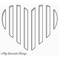 Happymade - My Favorite Things die - Peek-a-Boo Striped Heart (MFT-1241)