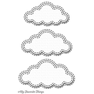 Happymade - My Favorite Things die set - Stitched Clouds (MFT-1129)