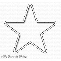 Happymade - My Favorite Things die - Stitched Peek-a-boo Star (MFT-1230)