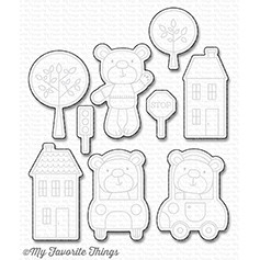 Happymade - My Favorite Things die set - Town Bear (MFT-1128)