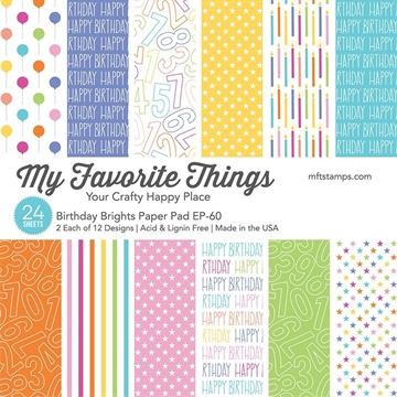 "Happymade - My Favorite Things Paper Pack - 6x6"" - Birthday Brights (EP-60)"