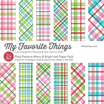 "Happymade - My Favorite Things Paper Pack - 6x6"" - Plaid Patterns Merry & Bright (EP-36)"