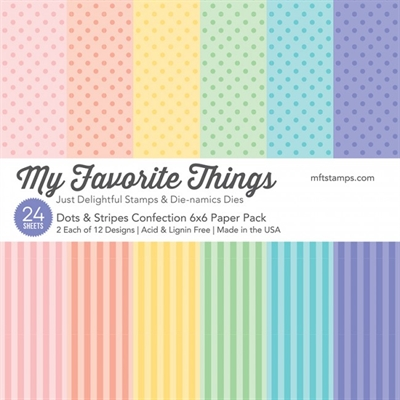 My Favorite Things Paper Pack - Dots & Stripes Confection