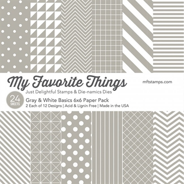 My Favorite Things Paper Pack - Gray & White Basics