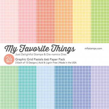 My Favorite Things Paper Pack - Graphic Grid Pastels