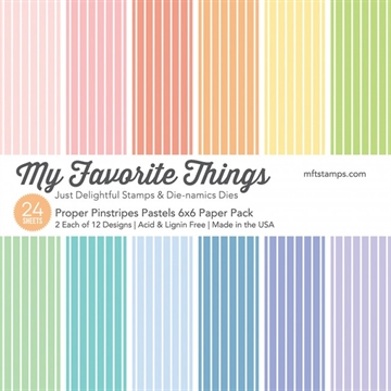My Favorite Things Paper Pack - Proper Pinstripes Pastels
