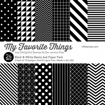 "Happymade - My Favorite Things Paper Pack - 6x6"" - Black & White Basics (EP-42)"