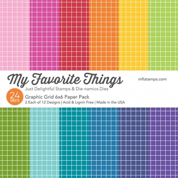 "Happymade - My Favorite Things Paper Pack - 6x6"" - Graphic Grid (EP-43)"