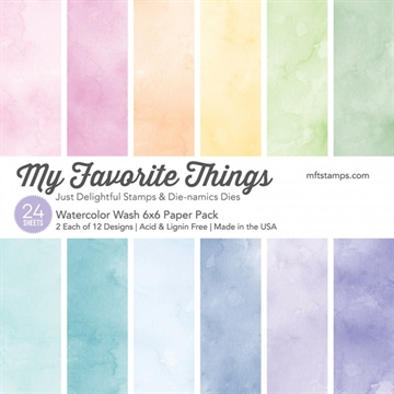 "Happymade - My Favorite Things Paper Pack - 6x6"" - Watercolor Wash (EP-24)"
