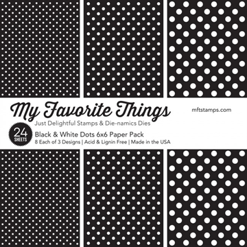 "Happymade - My Favorite Things Paper Pack - 6x6"" - Black & White Dots (EP-55)"