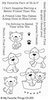 Happymade - My Favorite Things clear stamp set - Furever Friends (CS-255)