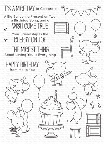 Happymade - My Favorite Things clear stamp - Mice Day to Celebrate (BB-120)