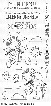 Happymade - My Favorite Things clear stamp set - Rain or Shine (BB-58)