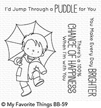 Happymade - My Favorite Things clear stamp set - Puddle Jumper (BB-59)