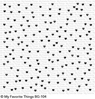 Happymade - My Favorite Things cling rubber stamp - Scatterede Hearts (BG-104)
