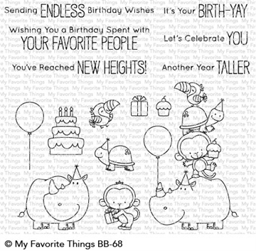 Happymade - My Favorite Things clear stamp set - Birth-Yay (BB-68)