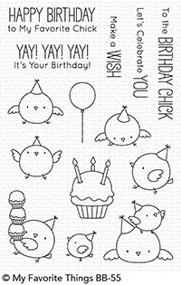 Happymade - My Favorite Things clear stamp set - Birthday Chicks (BB-55)