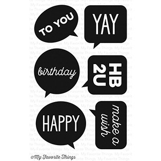 Happymade - My Favorite Things clear stamp set - Birthday Speech Bubbles (CS-130)