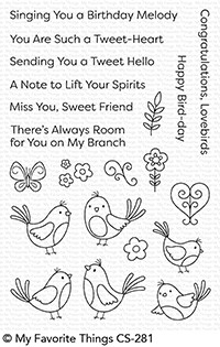 Happymade - My Favorite Things clear stamp set - A Tweet Hello (CS-281)