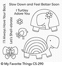 Happymade - My Favorite Things clear stamp set - Too-Cute Turtles (CS-290)