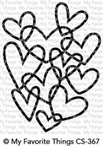 Happymade - My Favorite Things clear stamp - Hearts Entwined (CS-367)