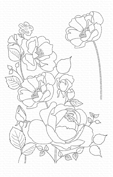 Happymade - My Favorite Things clear stamp - Rose Garden (CS-445)