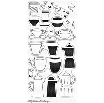 Happymade - My Favorite Things clear stamp set - Coffee Date (CS-228)