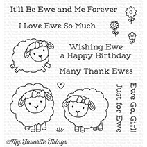 Happymade - My Favorite Things clear stamp set - Ewe and Me forever (CS-258)