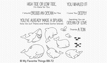 Happymade - My Favorite Things clear stamp set - Friends with Fins (BB-72)