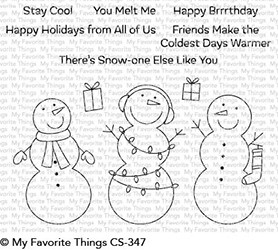 Happymade - My Favorite Things clear stamp set - Frosty Friends (CS-347)