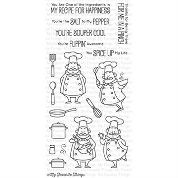 Happymade - My Favorite Things clear stamp set - Recipe for Happiness (BB-30)