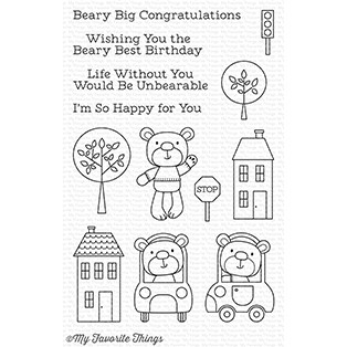 Happymade - My Favorite Things clear stamp set - Town Bear (CS-210)
