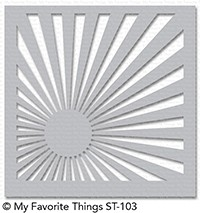 Happymade - My Favorite Things stencil - Sunrise Radiating Rays (ST-103)