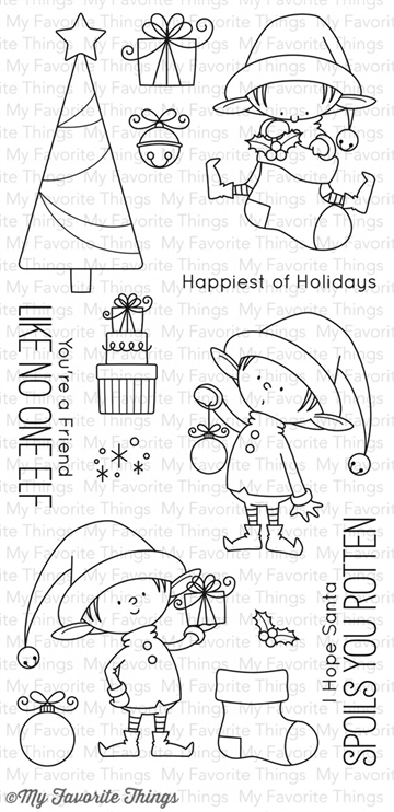 My Favorite Things clear stamp set - Santa's Elves (BB-25)