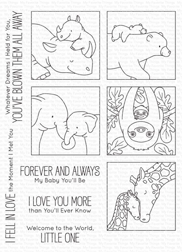 Happymade - My Favorite Things clear stamp - I'll Love You Forever (BB-116)