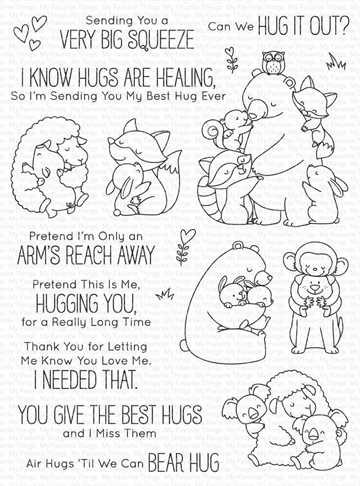 Happymade - My Favorite Things clear stamp - Hug it Out (BB-117)