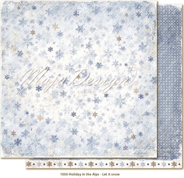 "Happymade - Maja Design - 12x12"" - Holiday in the Alps - Let it Snow - 1050"